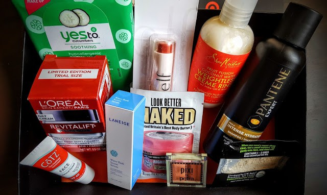 contents of june target beauty box