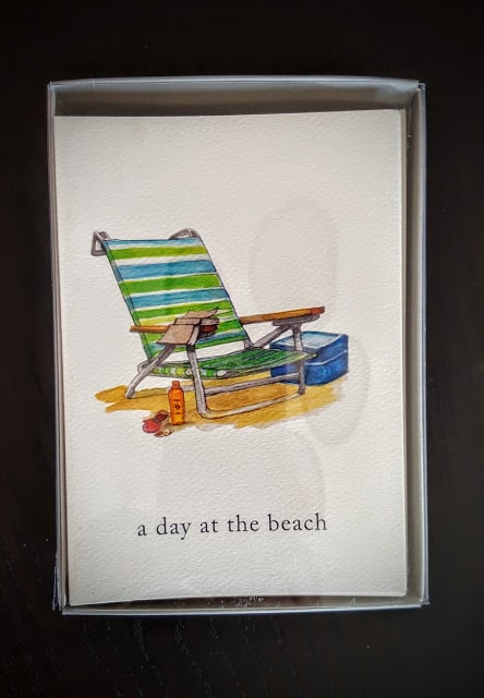 cardthartic beach themed notecards