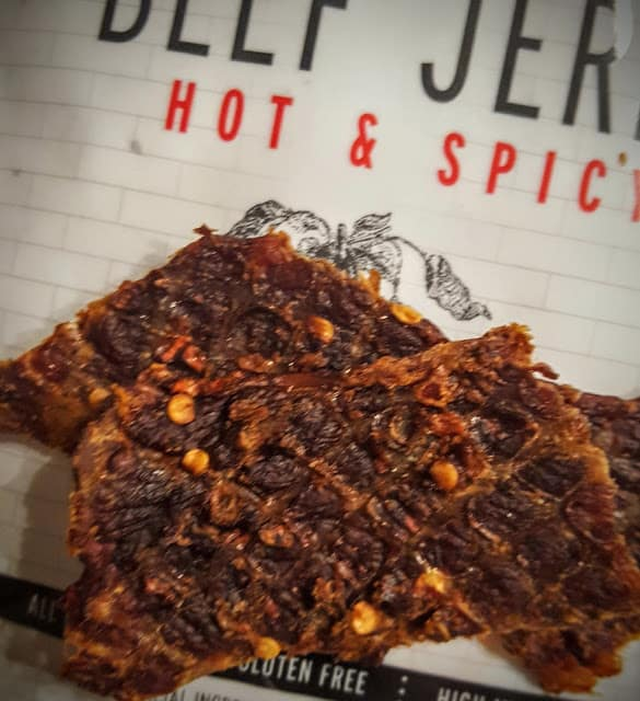 texture of hot and spicy jerky