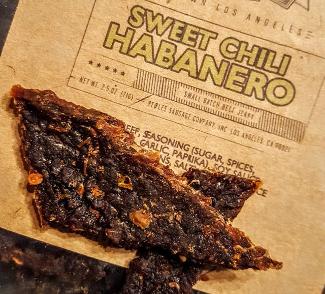 texture of sweet chili habanero jerky