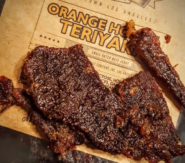 texture of orange honey teriyaki jerky