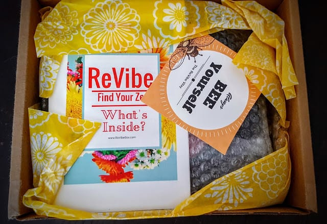 first glimpse inside ReVibe subscription box