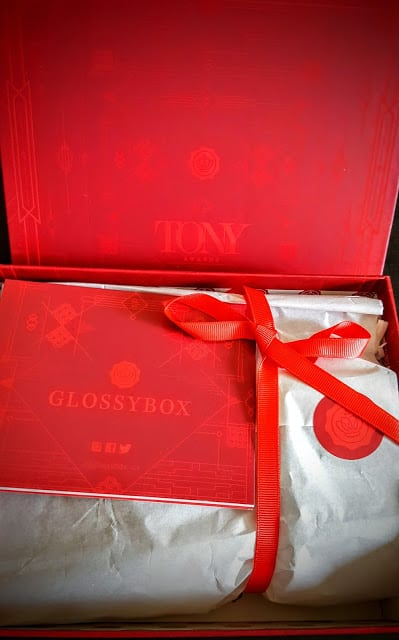 first glimpse inside the tony awards glossybox