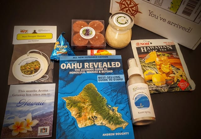contents of the aroma getaway box