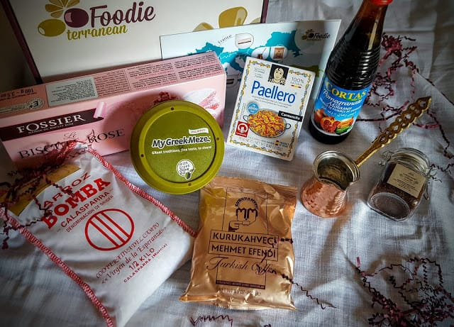 contents of the Foodie Terranean Subscription Box
