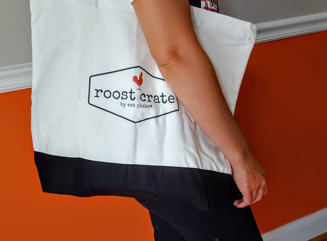 roost crate tote bag