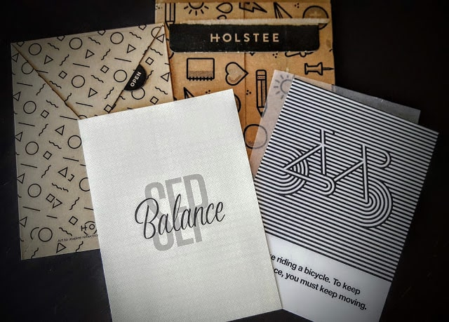 what's in the september holstee subscription