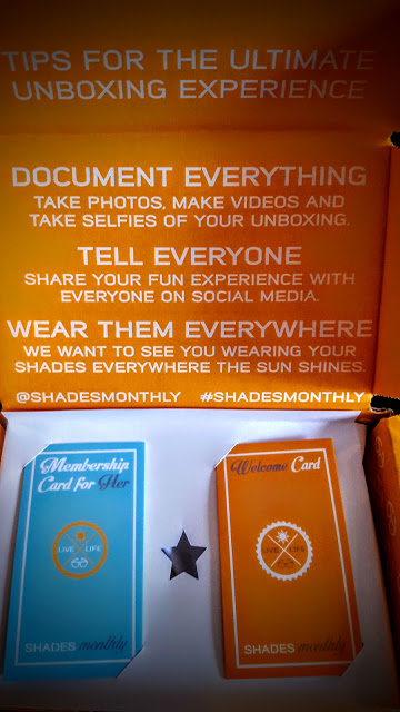 first glimpse inside the shades monthly box