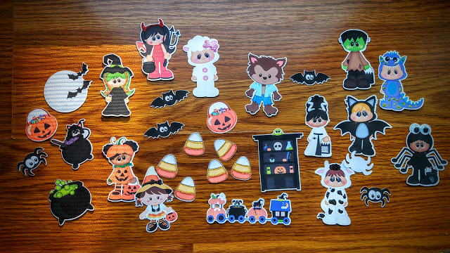 everything that we received in our October Die Cut Club package