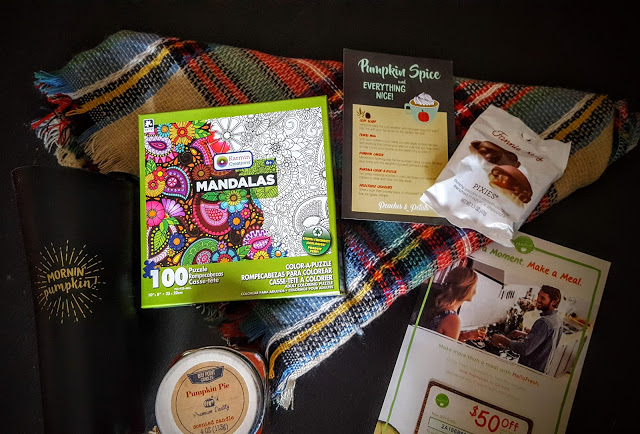 what's in the october peaches and petals box