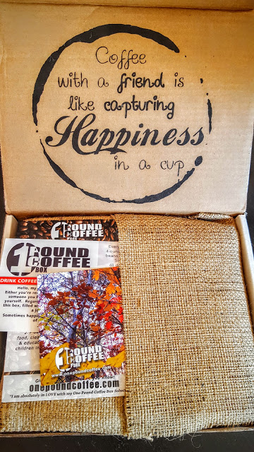 our first look in the 1 pound coffee box