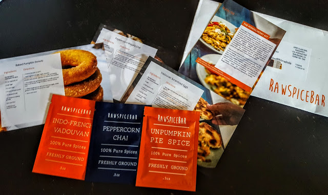 what's in the raw spice bar subscription