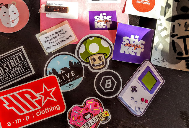 whats in sticker swaps box
