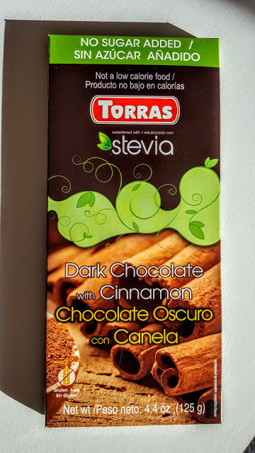 torras dark chocolate bar with cinnamon