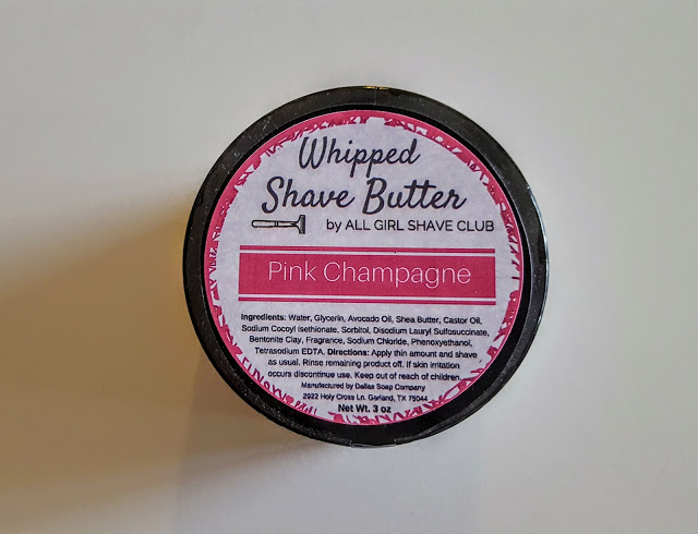 whipped shave butter pink champagne