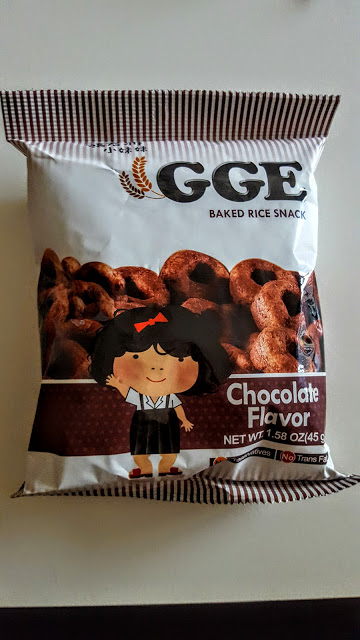 GGe chocolate baked rice snack