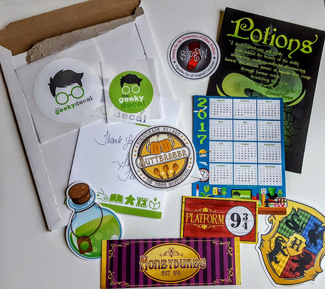 what's in the geeky decal subscription