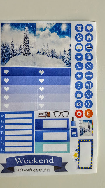 planner stickers from crafty beautee