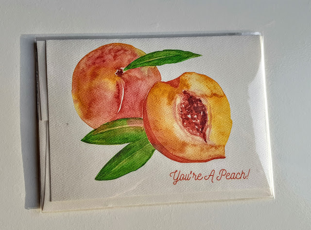 amy richards illustrations you're a peach card
