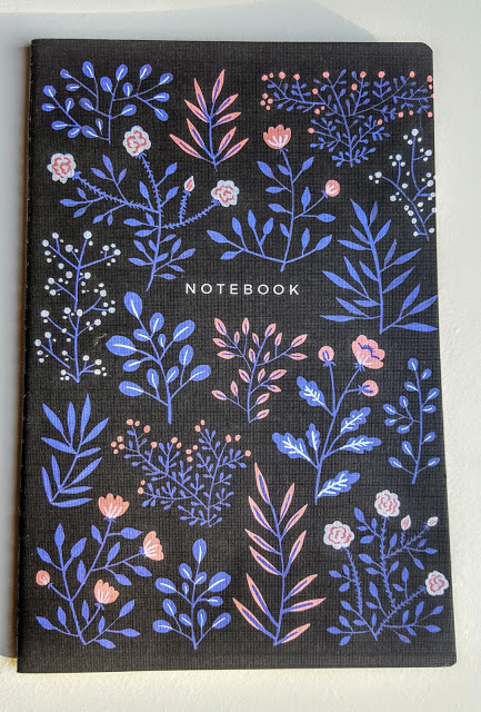 archer and olive moon flowers notebook