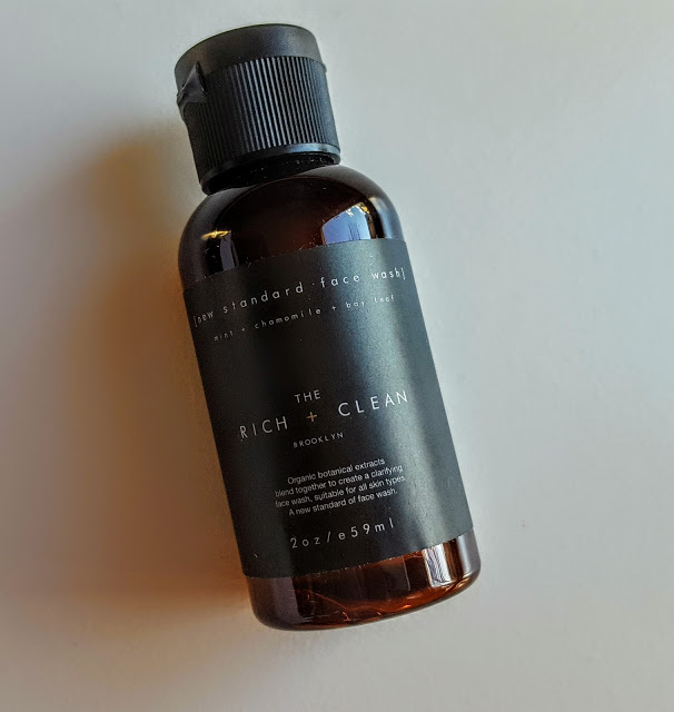 the rich + clean new standard face wash