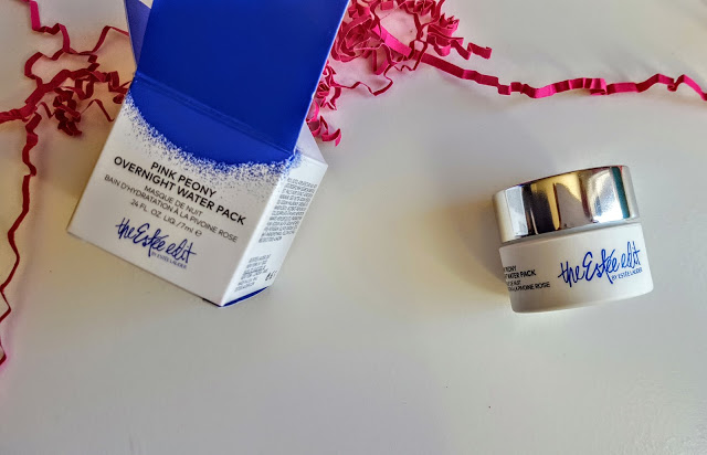 the estee edit pink peony overnight water pack