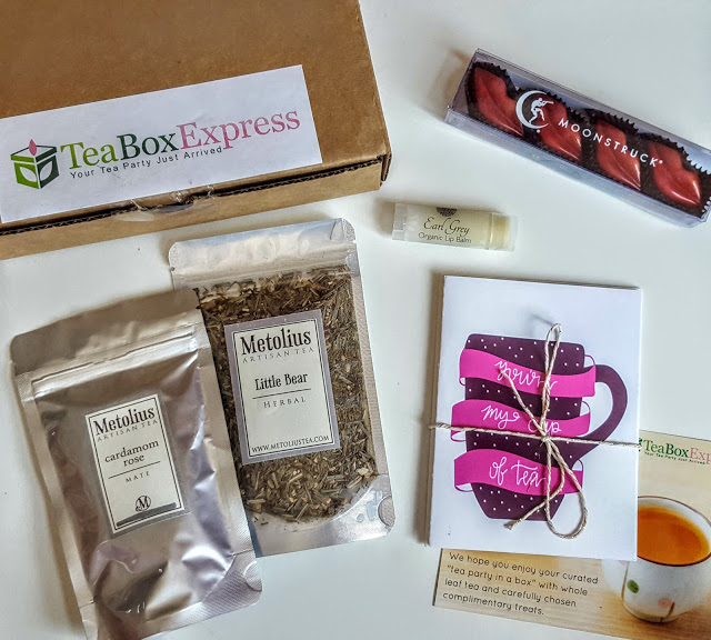 what's in the tea box express box