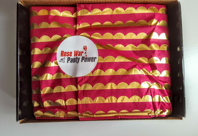 first look in the rose war panty power box