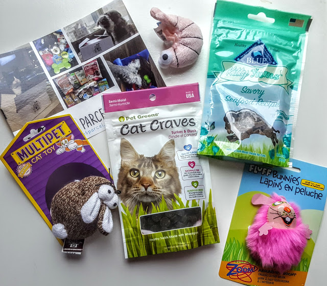 what's in the pet parcel box