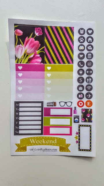 crafty beautee planner stickers