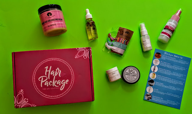 what's in the hair package box