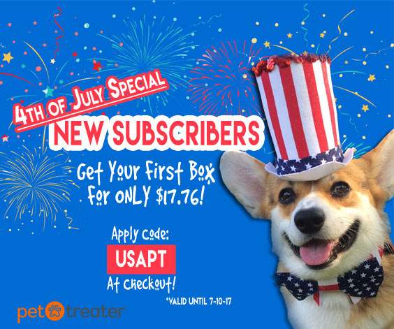 pet treater 4th of july special