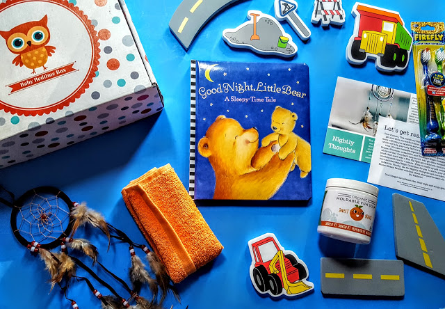 what's in the baby bedtime box