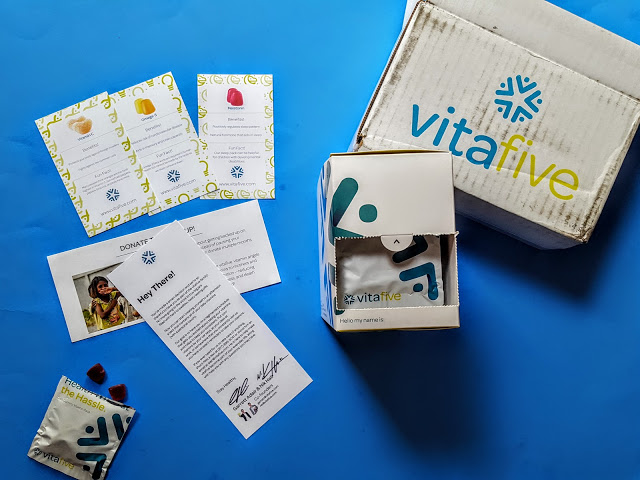 what's in the vitafive box
