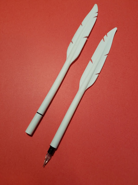 rubber feather pens