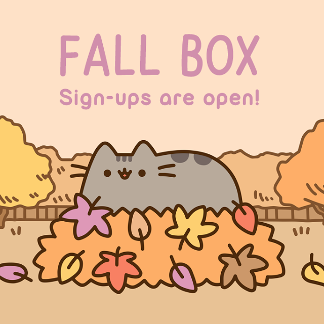 pusheen fall  box
