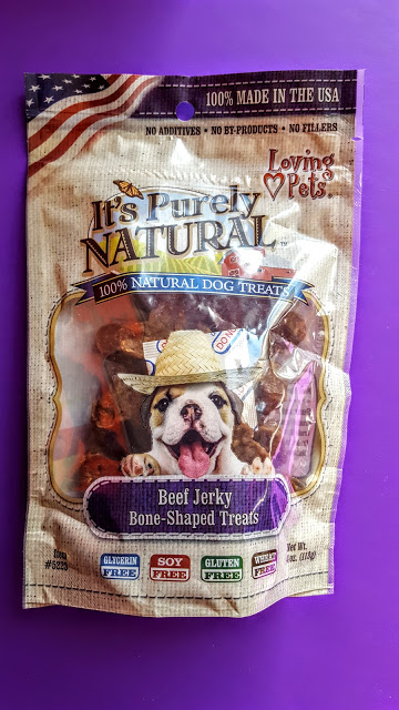 it's purely natural beef jerky bone shaped treats