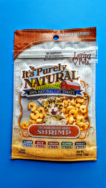 it's purely natural freeze dried shrimp