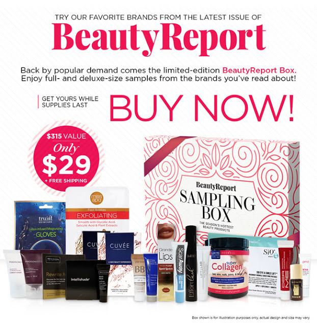 new beauty beauty report sampling box