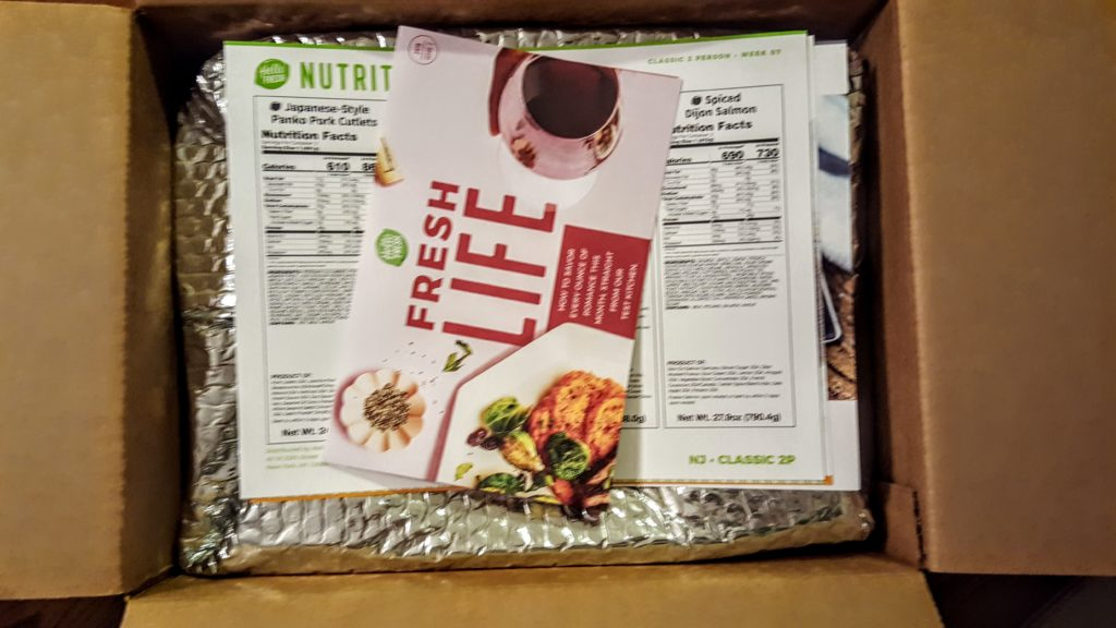 first look in the hello fresh box