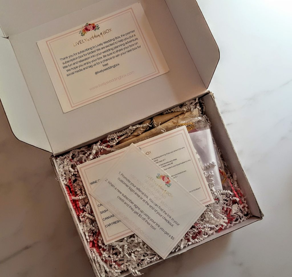 first look in the lively wedding box
