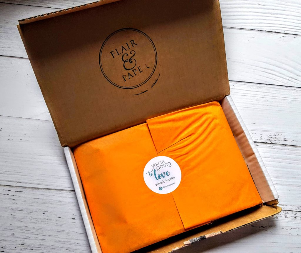our first look in the flair & paper box