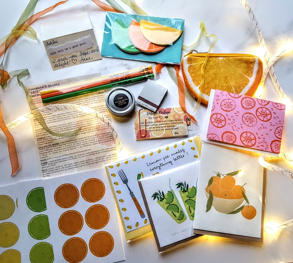 what's in the january postbox