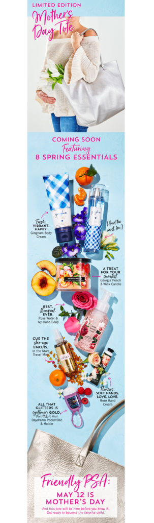 bath and body works mothers day tote