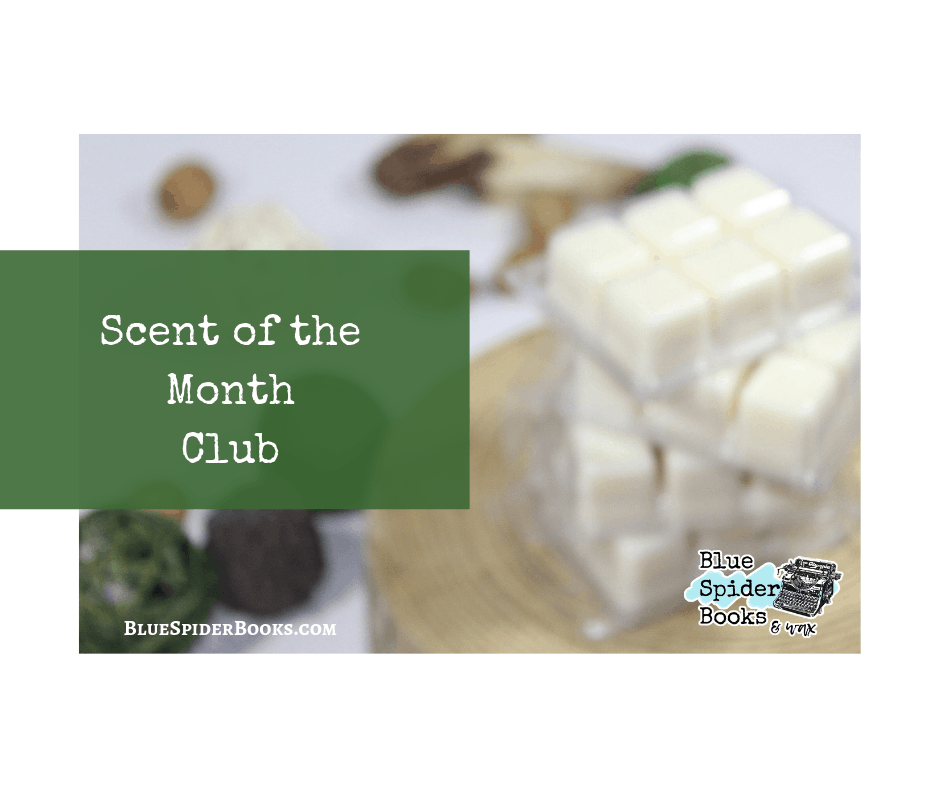 scent of the month blue spider books