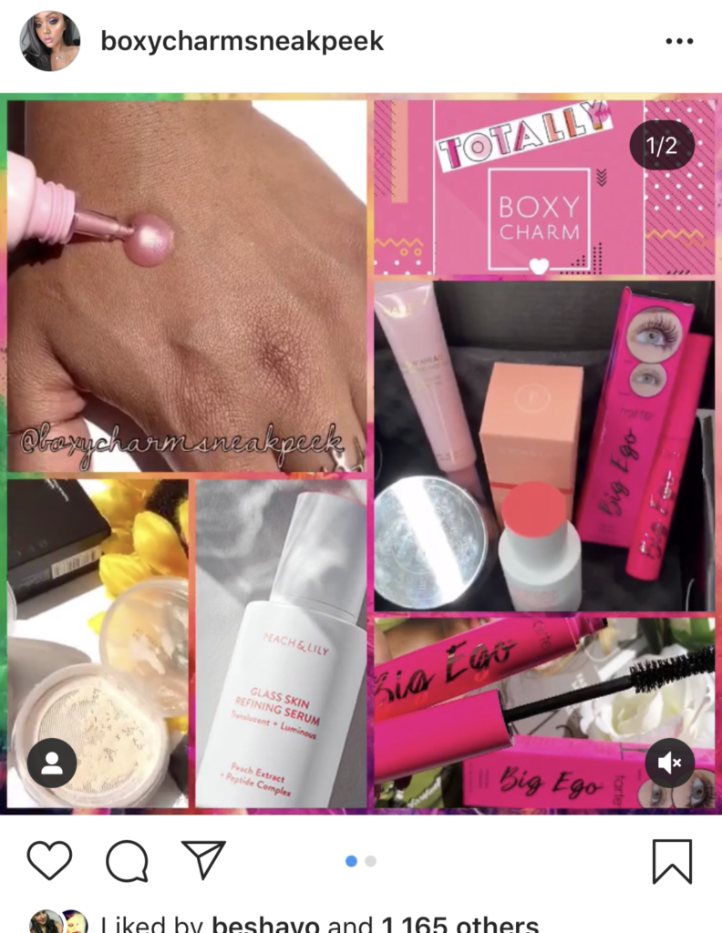 boxy charm august spoilers