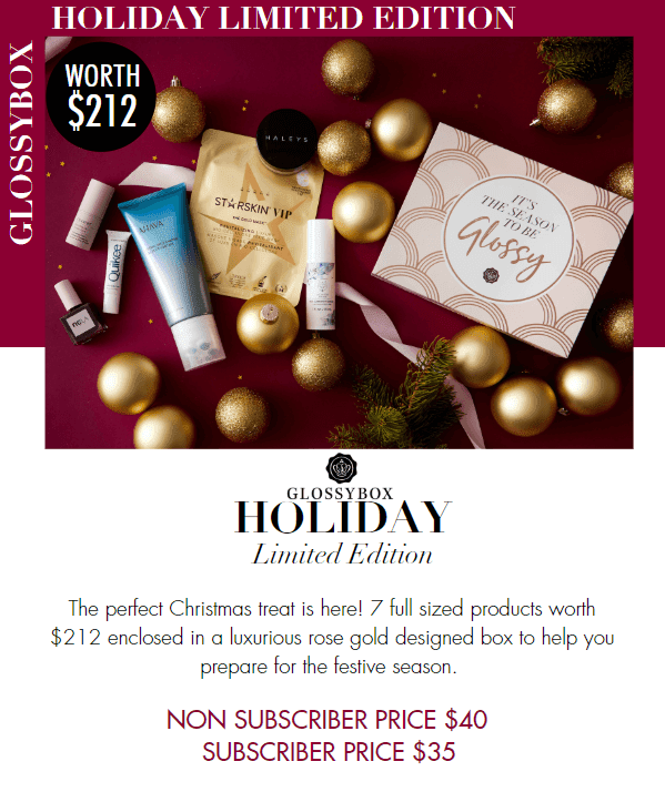 glossybox holiday limited edition