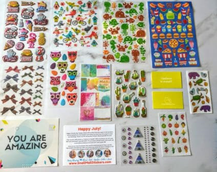 sticker subscription box