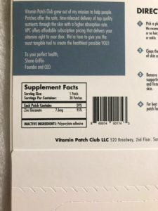 how effective are vitamin patches