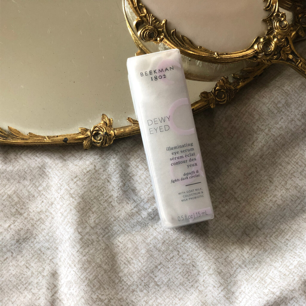 beekman 1802 dewy eyed illuminating & depuffing serum review